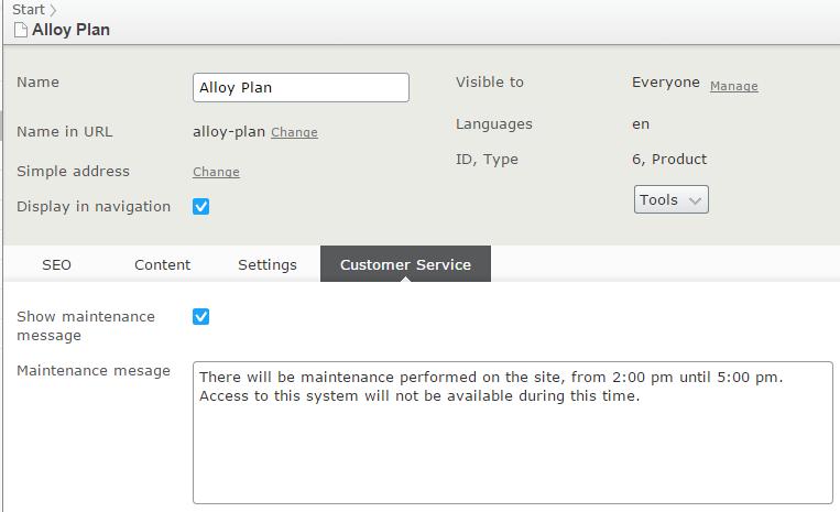 all properties - customer service