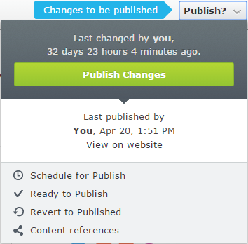contentreferences publish menu