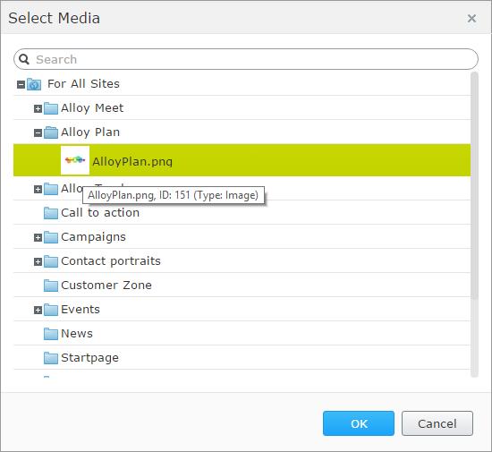 ContentSelector - dialog