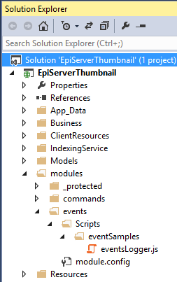 events logger folder structure