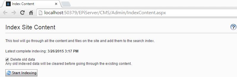 index content tool