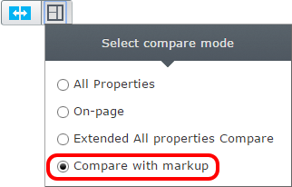 compare with markup mode