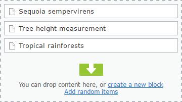 Adding random items to ContentArea