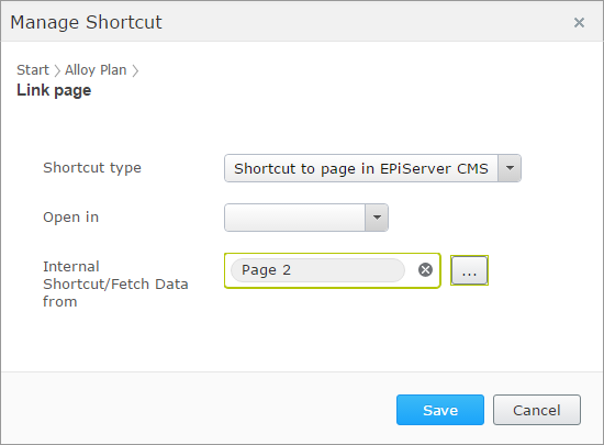 shortcut problem new page