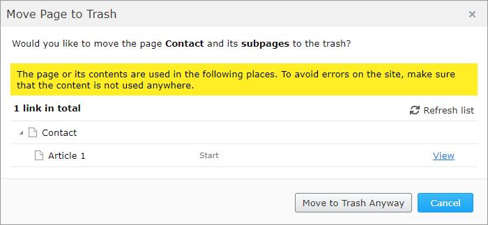 PropertySoftLinkIndexer deleting page