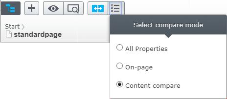 advanced compare mode options